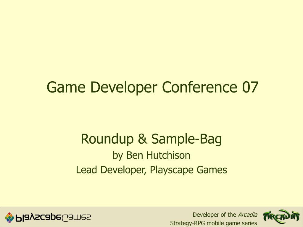 game developer conference 07 l.