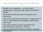 derivative use by the 3 rd tier of jse firms