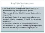 employee share options35