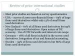 review of prior international studies