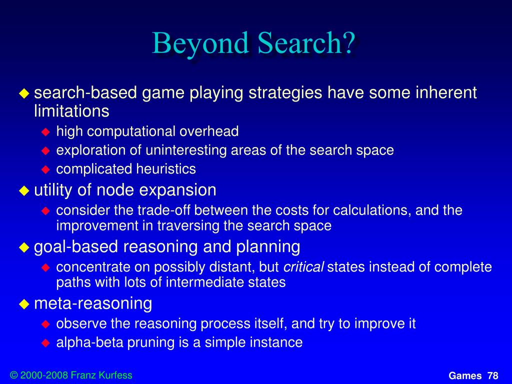 Beyond Search?