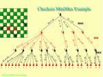 checkers minimax example