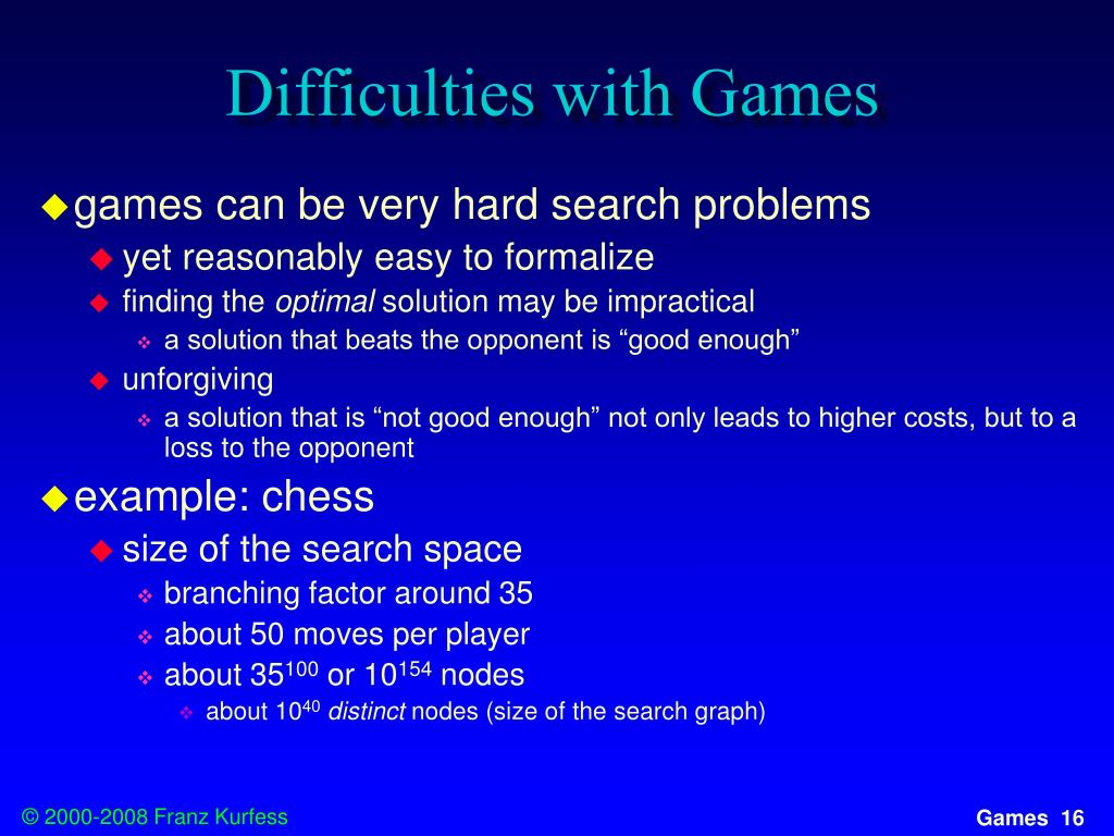 Difficulties with Games