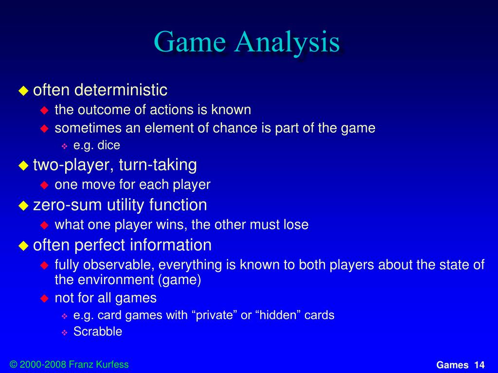 Game Analysis