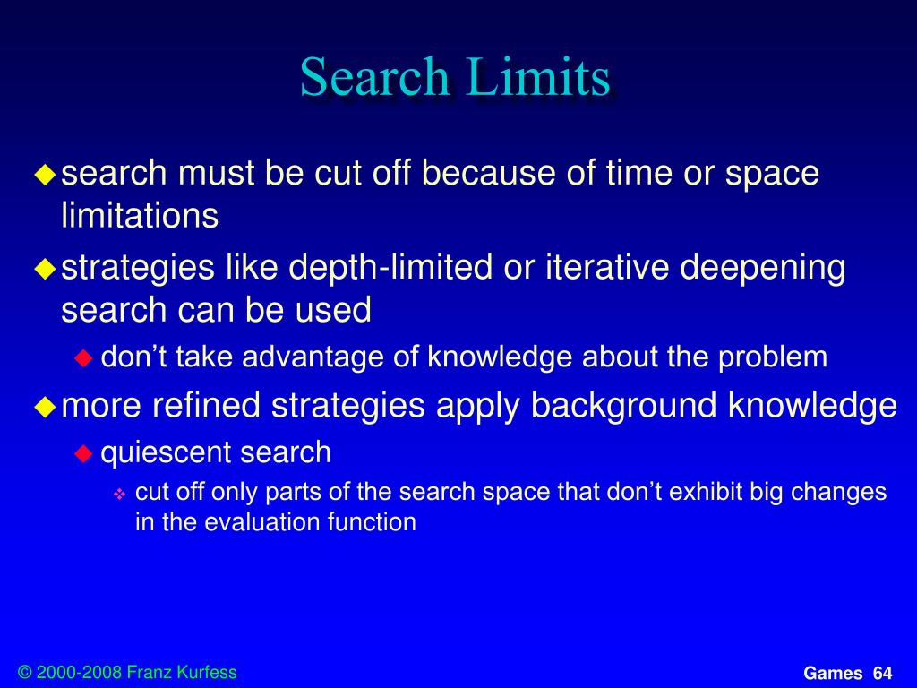 Search Limits