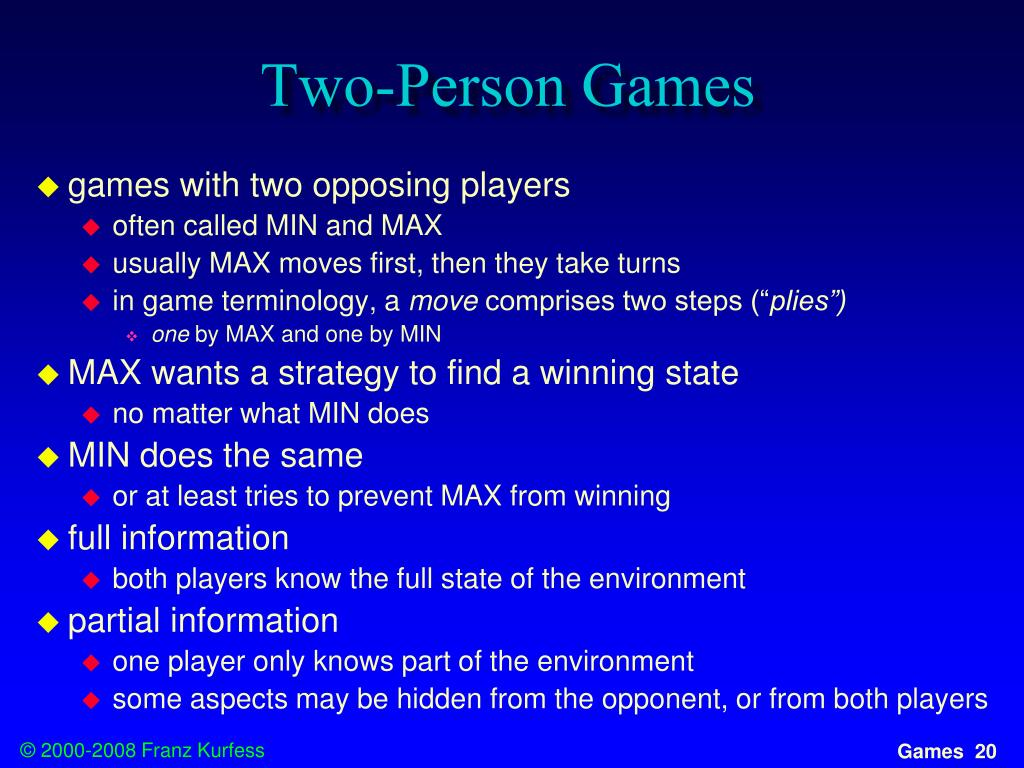 Two-Person Games