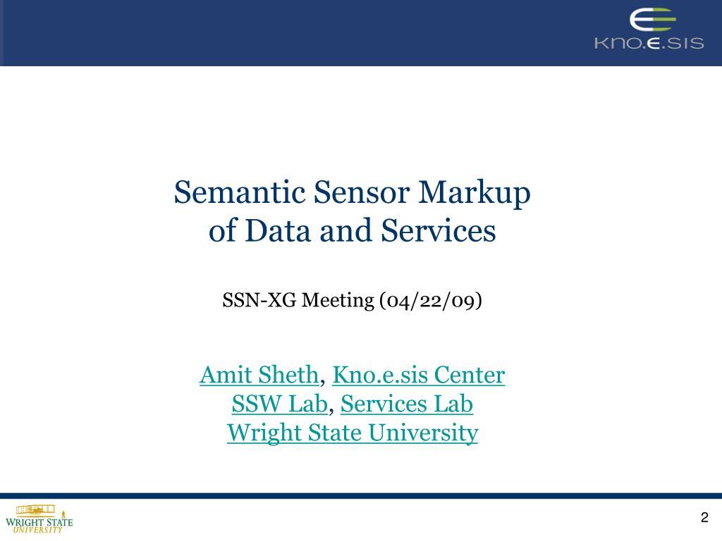 Semantic Sensor Markup