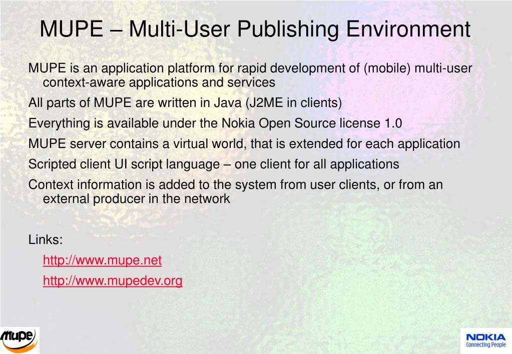 MUPE – Multi-User Publishing Environment