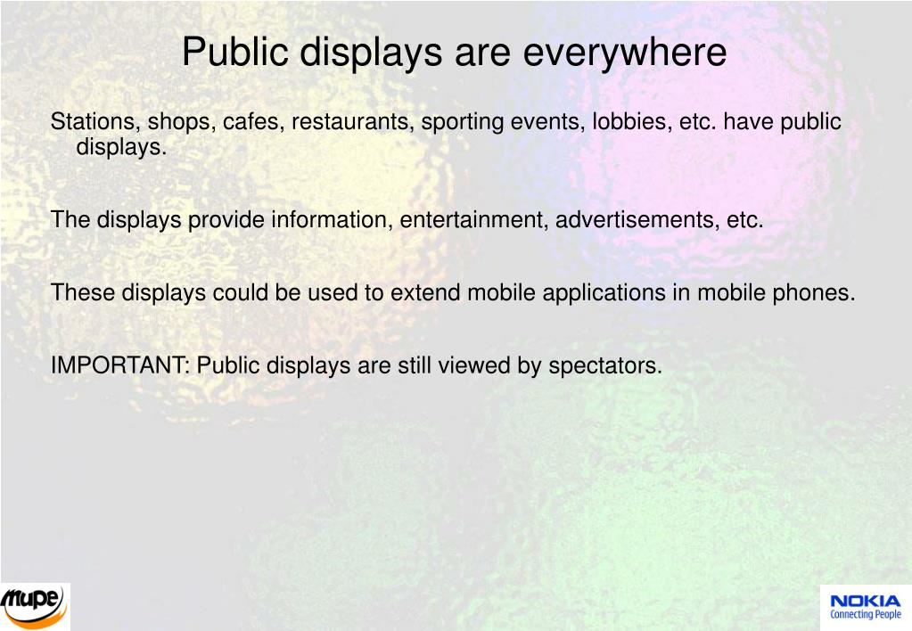 Public displays are everywhere