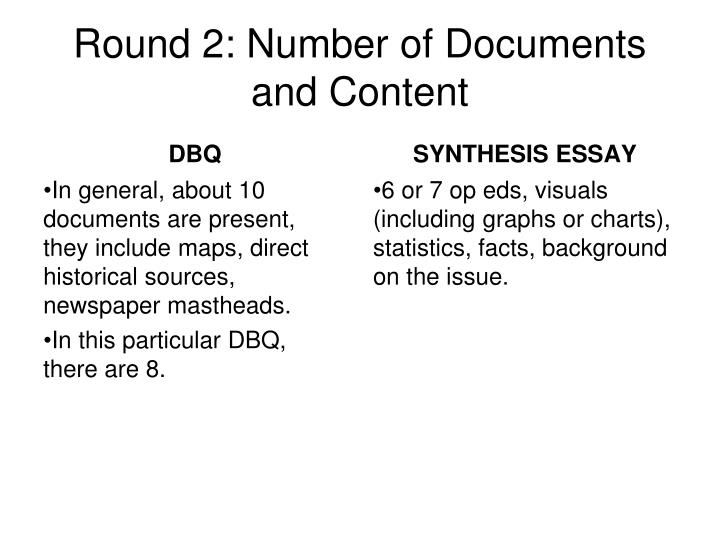 dbq essay graphic Spend too much time on the dbq rather than moving on to the other essay write the first paragraph before you have a clear idea of what your thesis will be ignore part of the question.