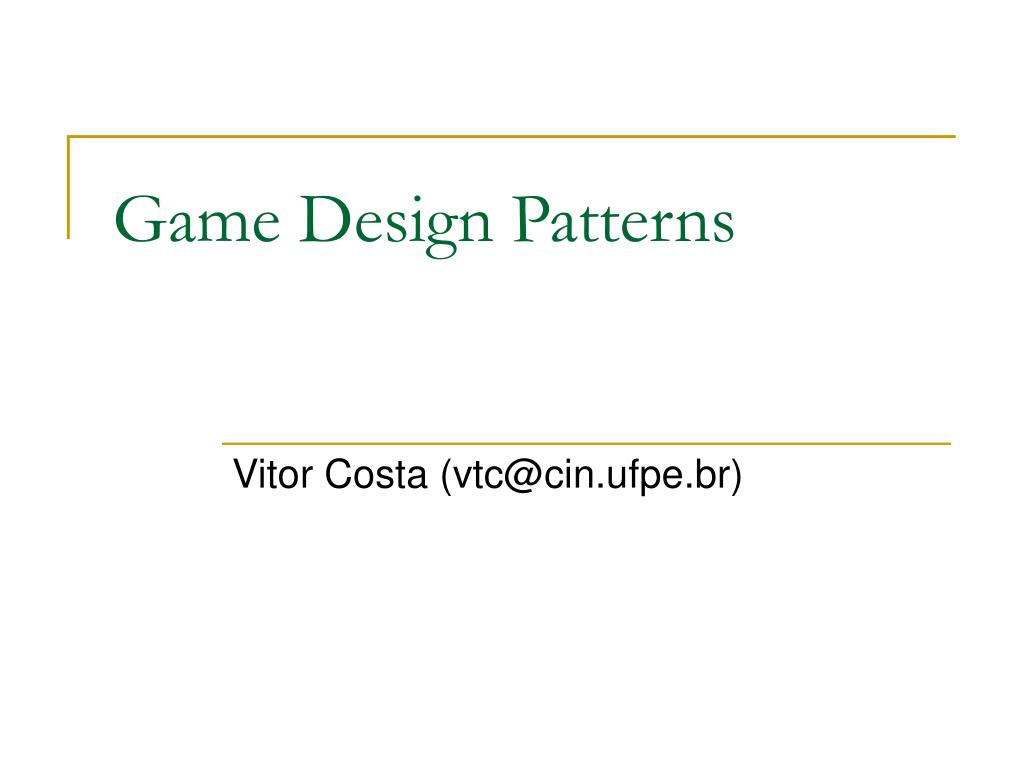 game design patterns l.