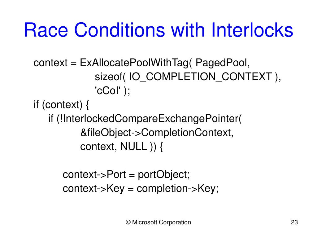 Race Conditions with Interlocks