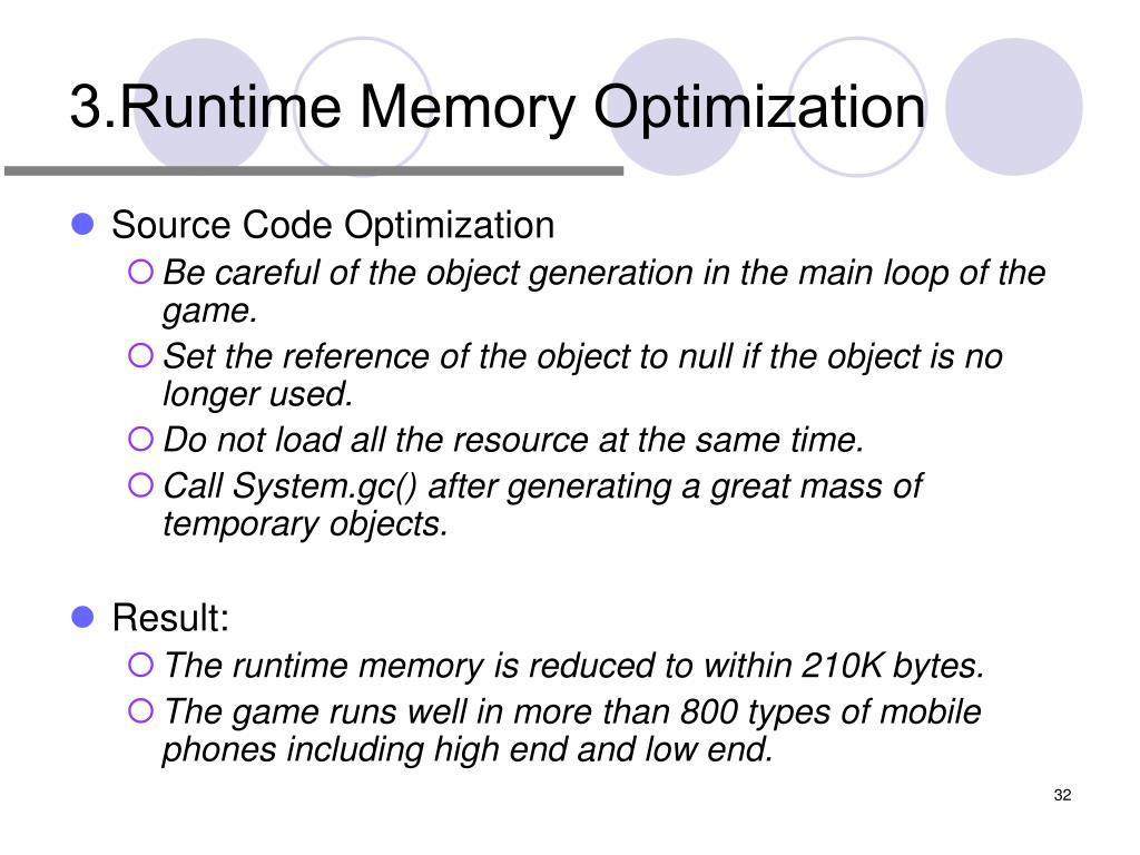 3.Runtime Memory Optimization