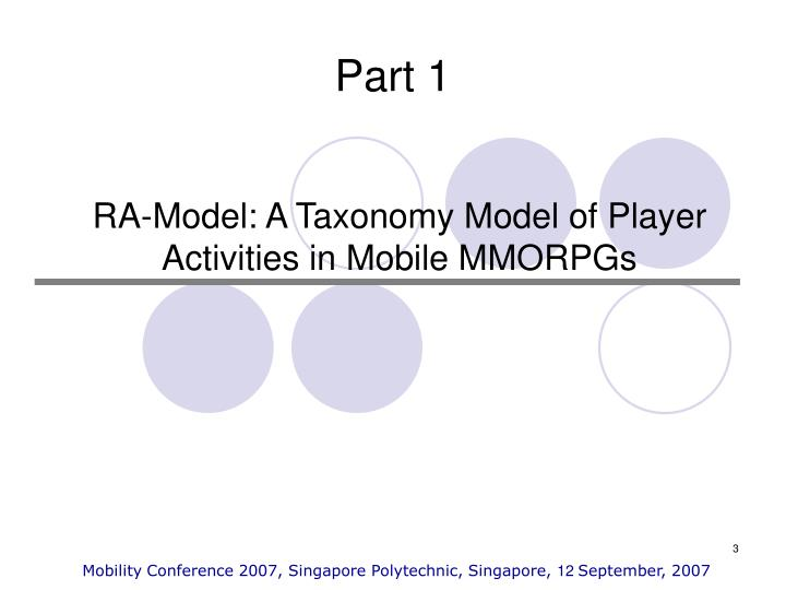 Ra model a taxonomy model of player activities in mobile mmorpgs