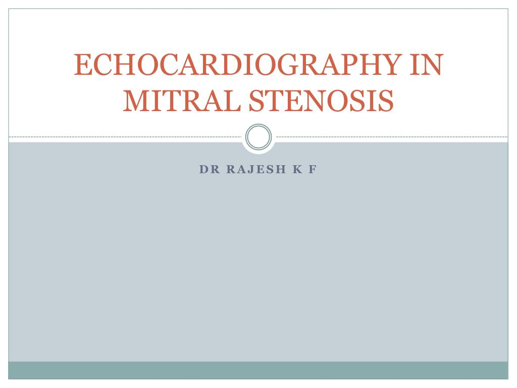 echocardiography in mitral stenosis l.
