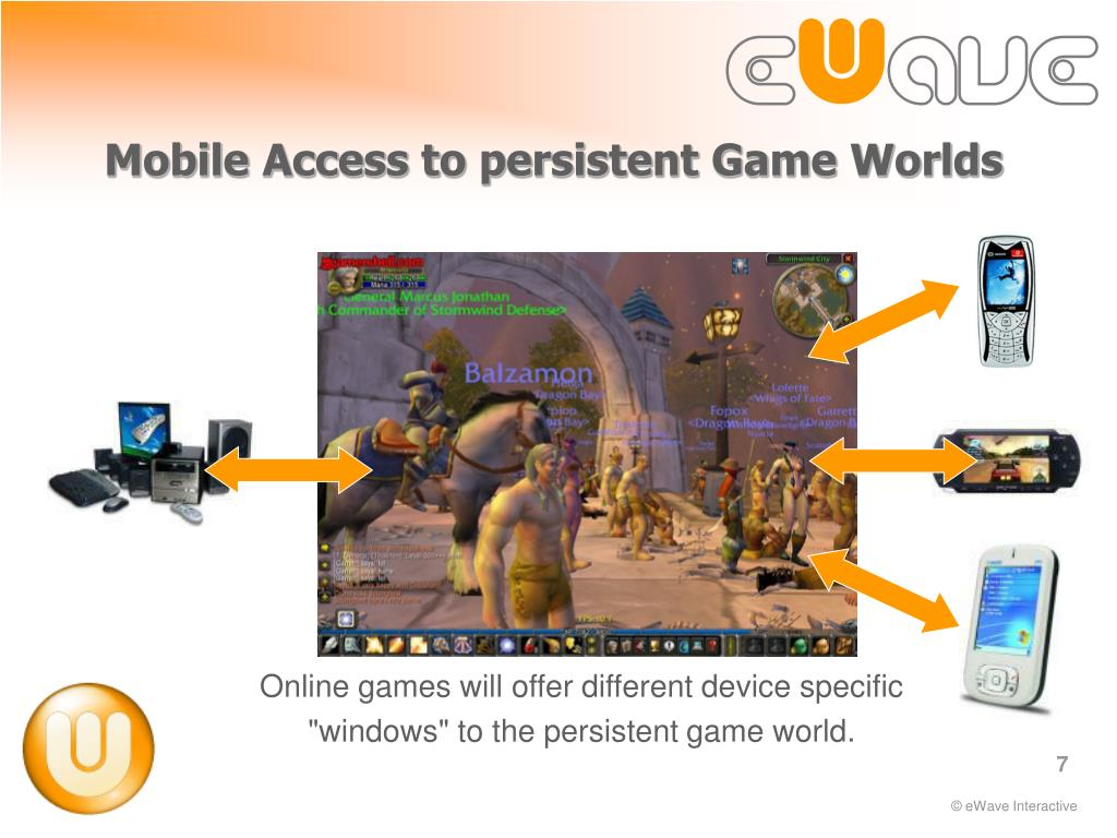 Mobile Access to persistent Game Worlds