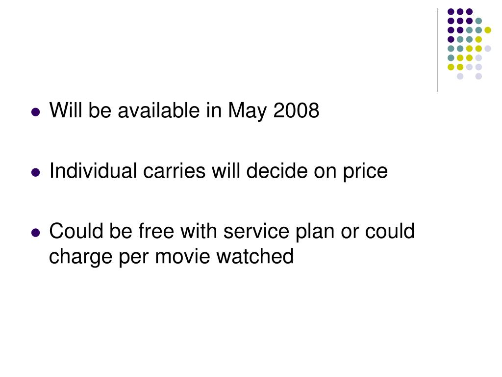 Will be available in May 2008
