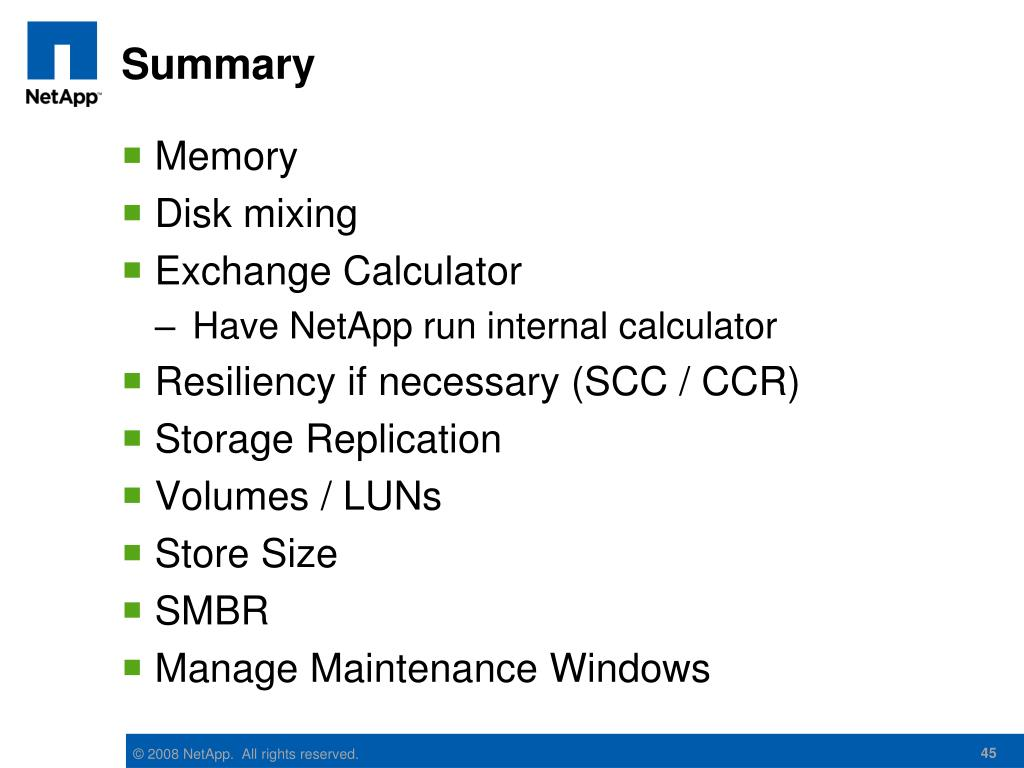 PPT - Exchange 2007 and NetApp – Best Practices and
