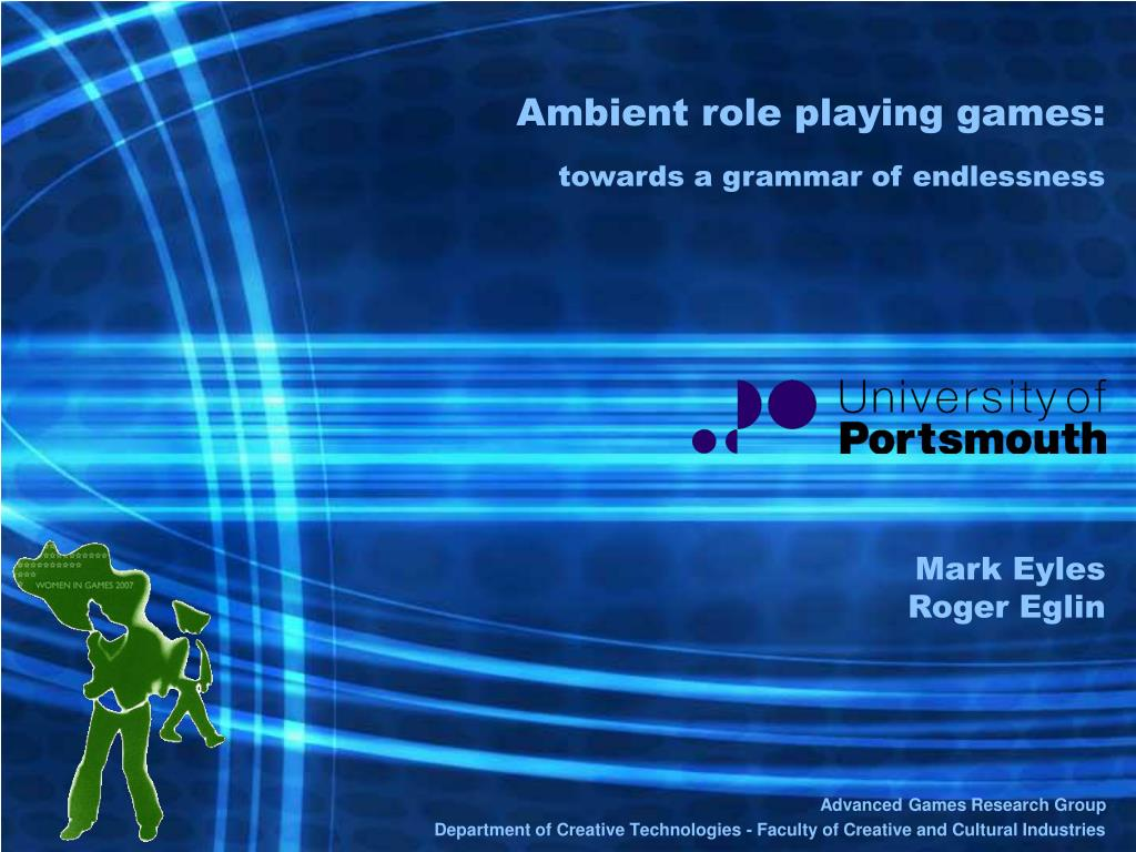 ambient role playing games towards a grammar of endlessness l.