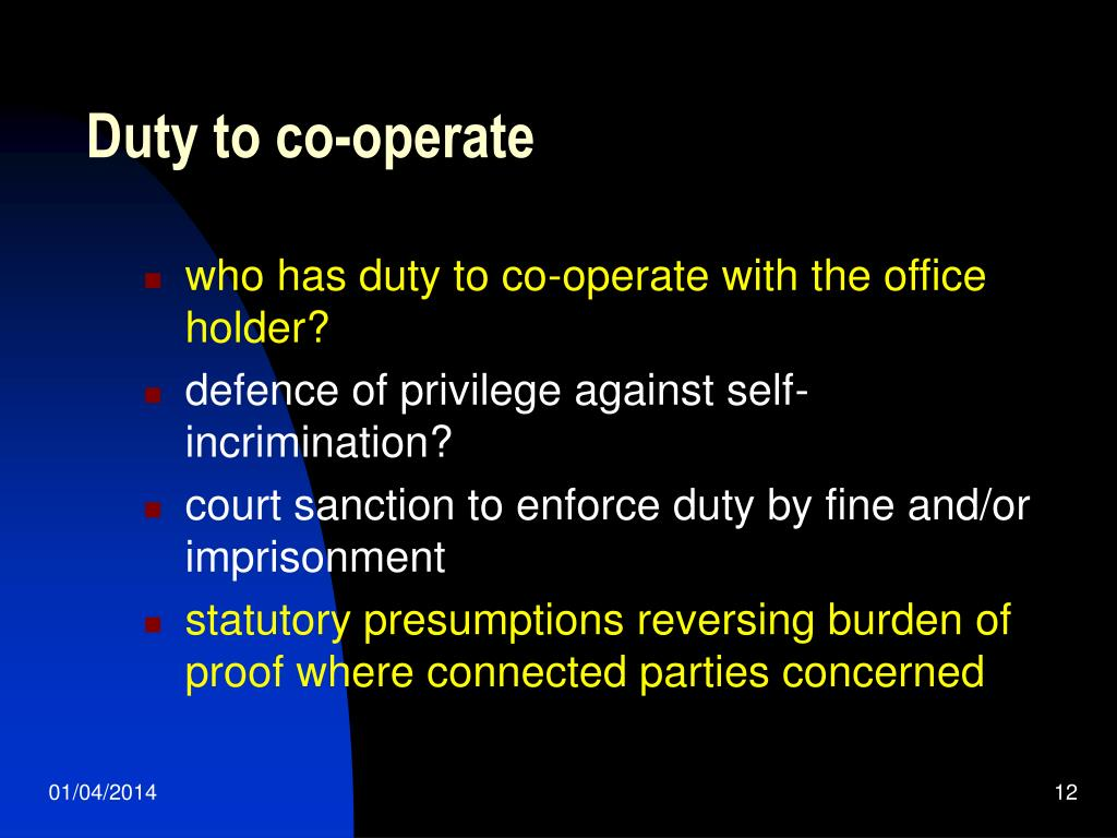 Duty to co-operate
