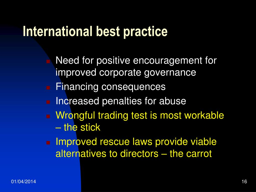 International best practice