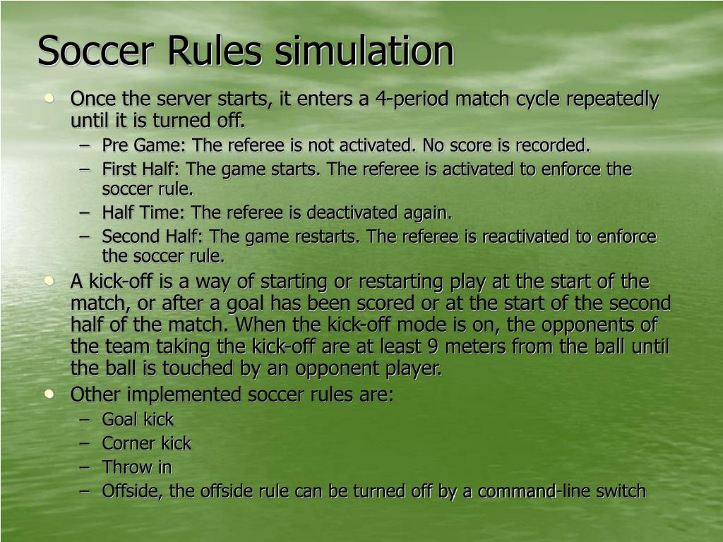 Soccer Rules simulation
