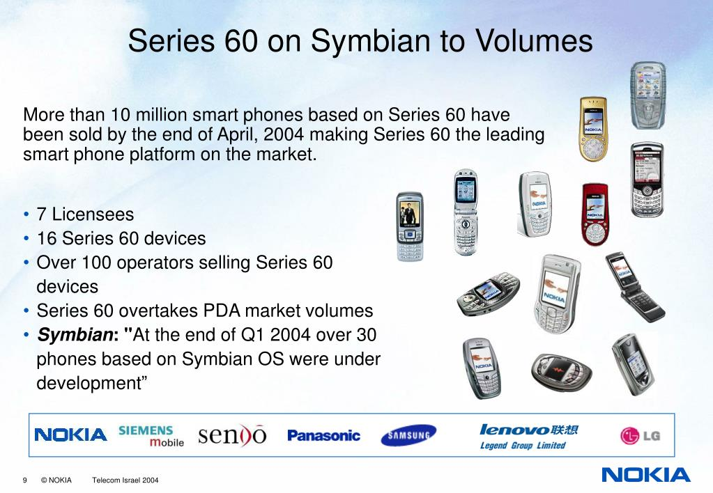 Series 60 on Symbian to Volumes