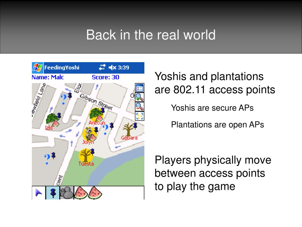 Yoshis and plantations are 802.11 access points