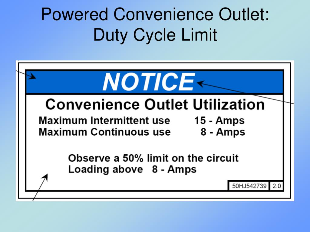 Powered Convenience Outlet: