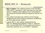 ieee 802 11 protocols