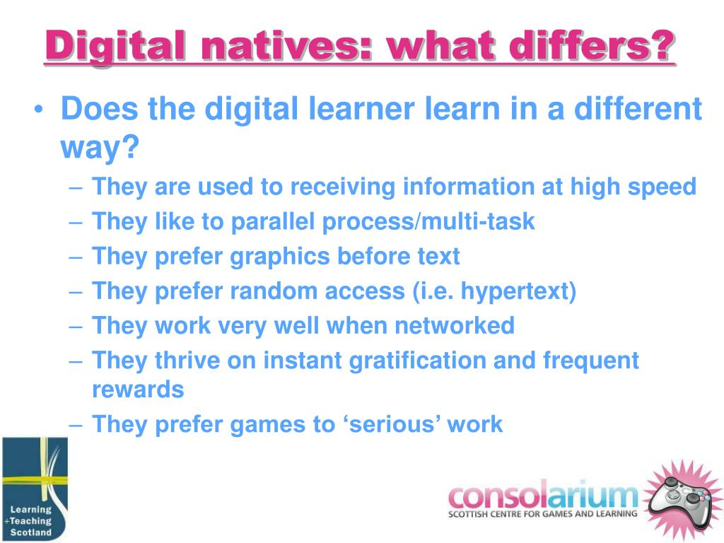 Digital natives: what differs?