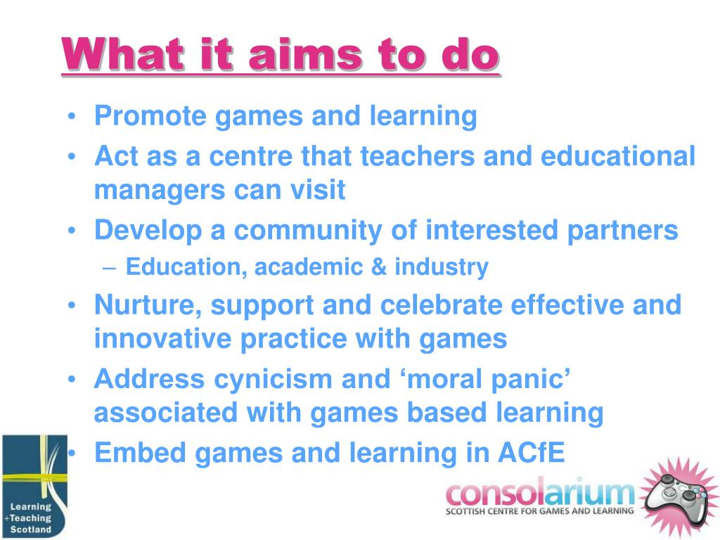 What it aims to do