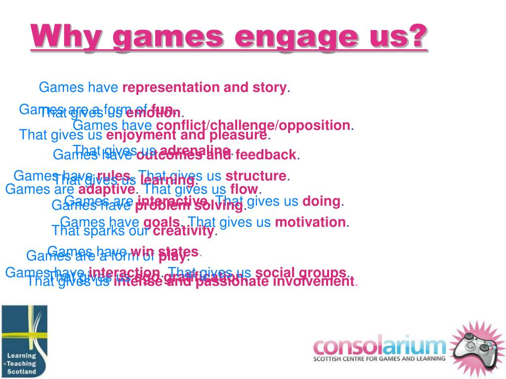 Why games engage us?