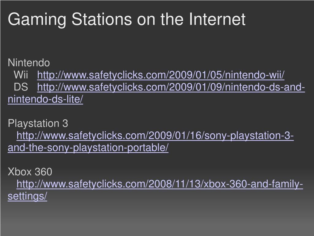 Gaming Stations on the Internet