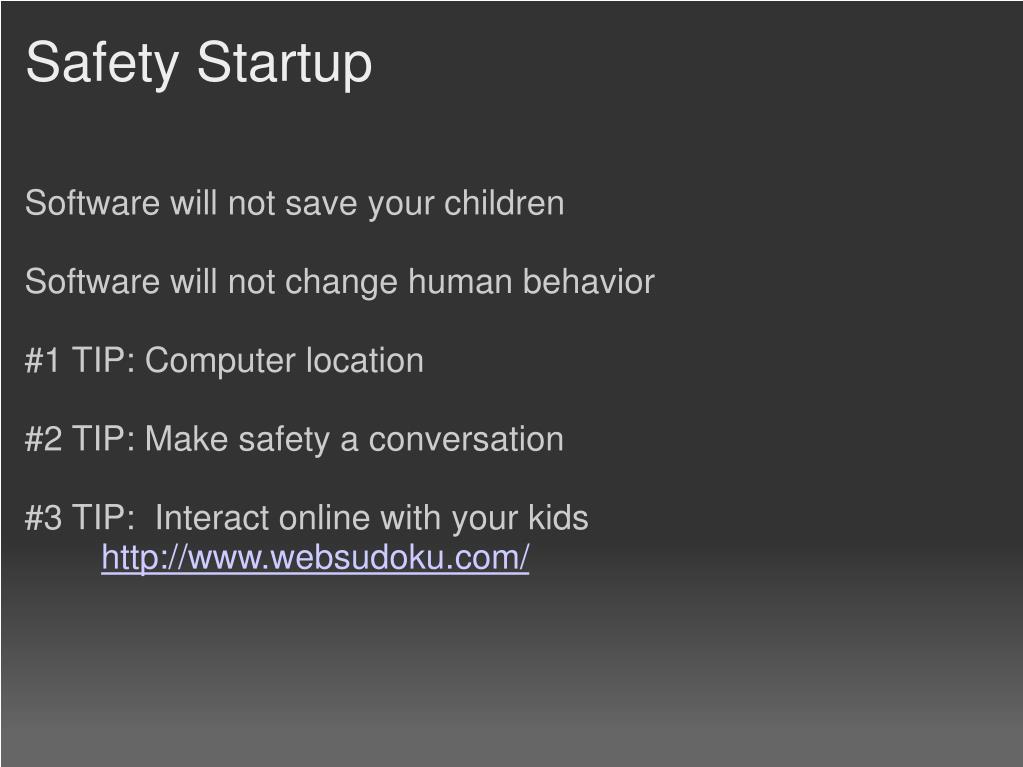 Safety Startup