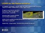 lidar for the nation initiative