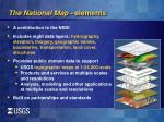 the national map elements
