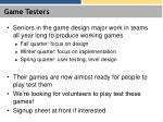 game testers
