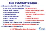 basis of uk industry s success