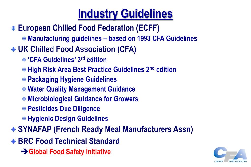 Industry Guidelines