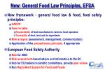 new general food law principles efsa