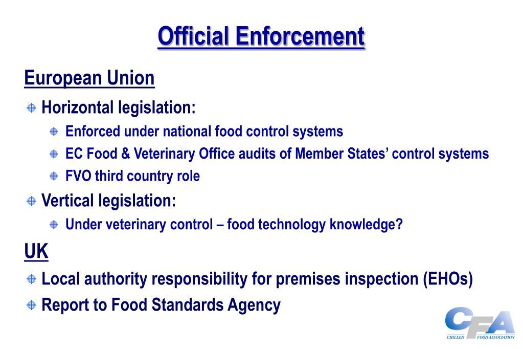 Official Enforcement