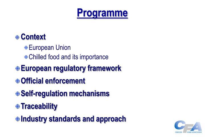 Programme