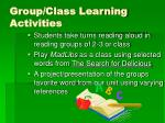 group class learning activities