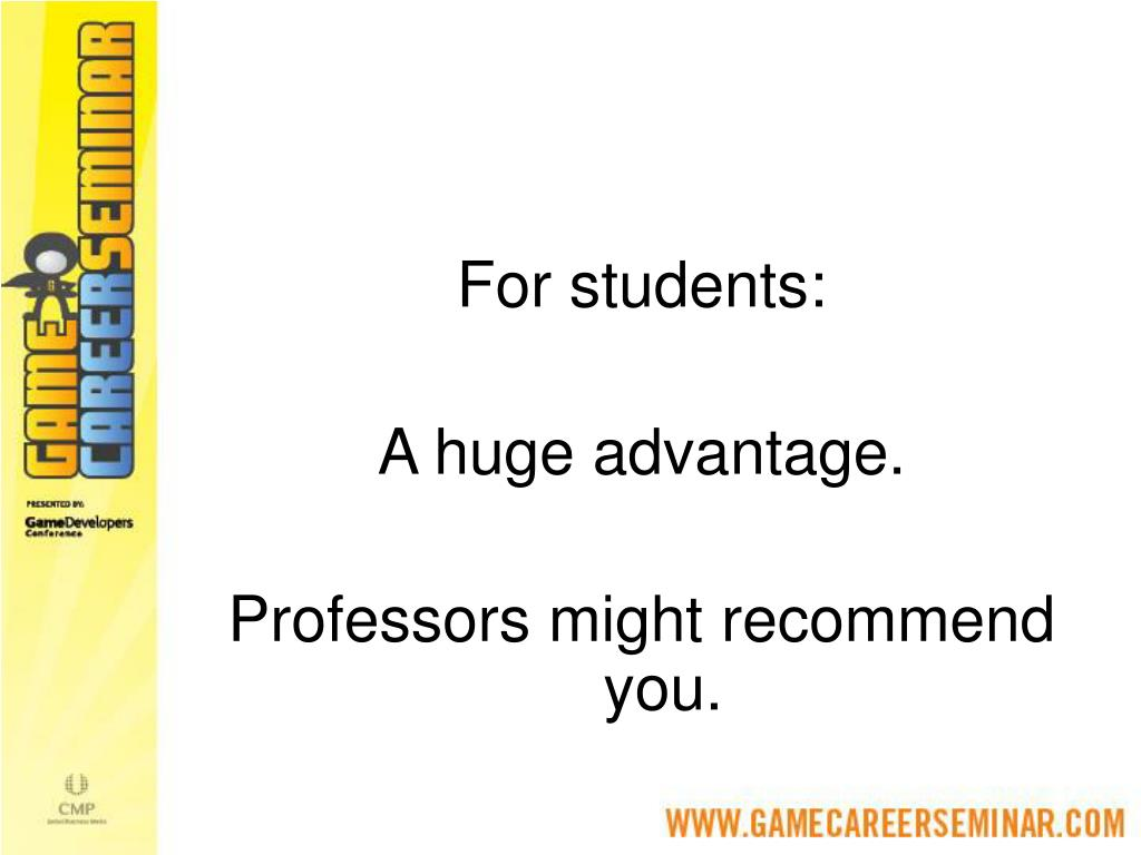 For students: