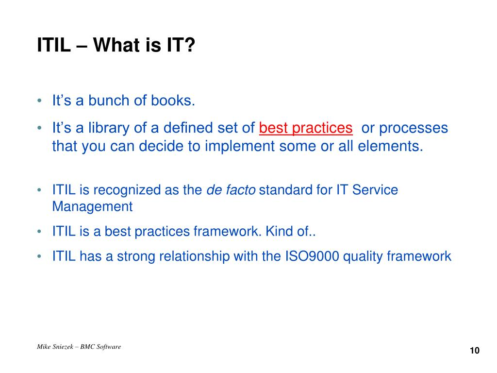 ITIL – What is IT?