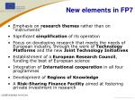 new elements in fp7