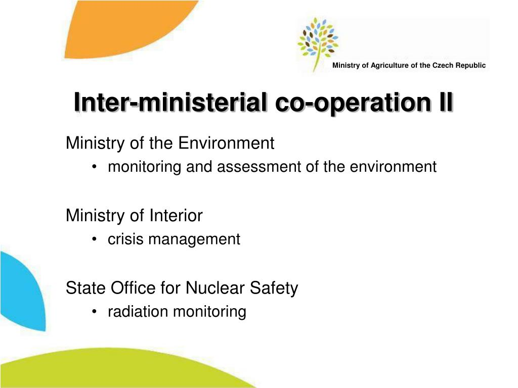 Inter-ministerial co-operation II