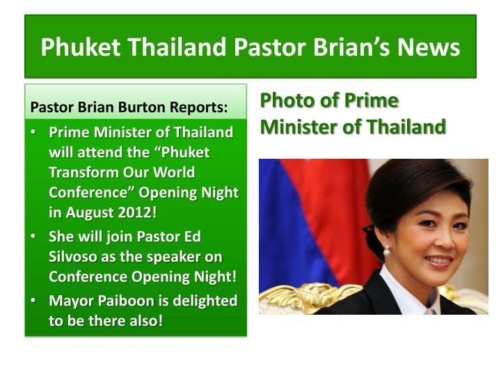 Phuket thailand pastor brian s news