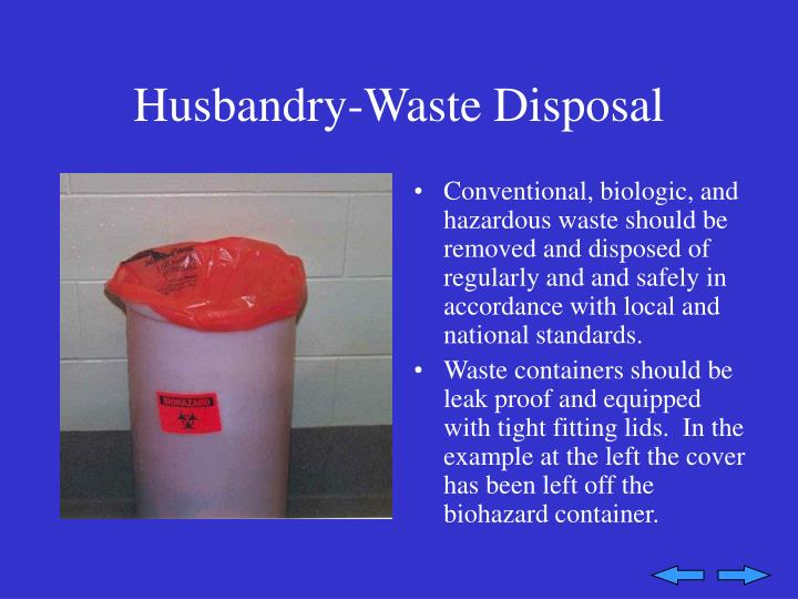 Husbandry-Waste Disposal